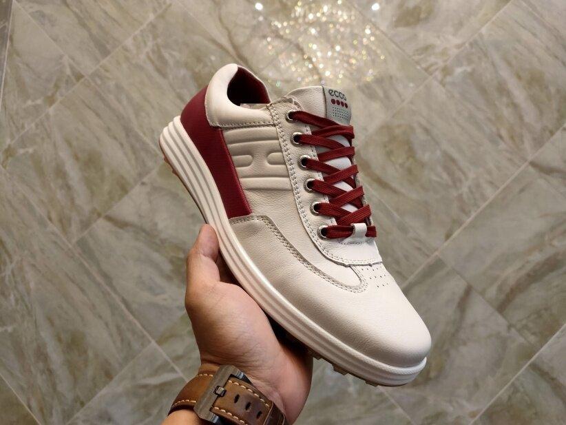 Giày Chơi Golf EccoForeign Cho Nam, Giày Thể Thao Bằng Da, Gắn Đinh Cố Định, Chống Trượt, Chống Nước giá rẻ
