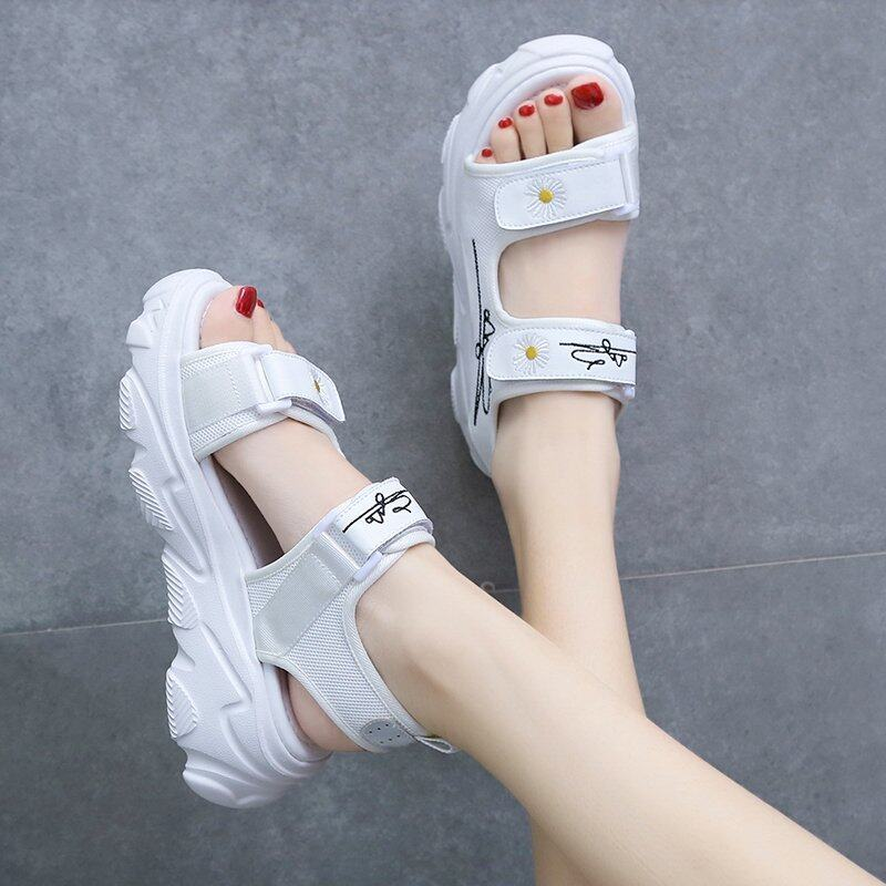 (PRE ORDER) SUMMER LADIES DAISY THICK BOTTOM CASUAL WILD SANDAL SHOES