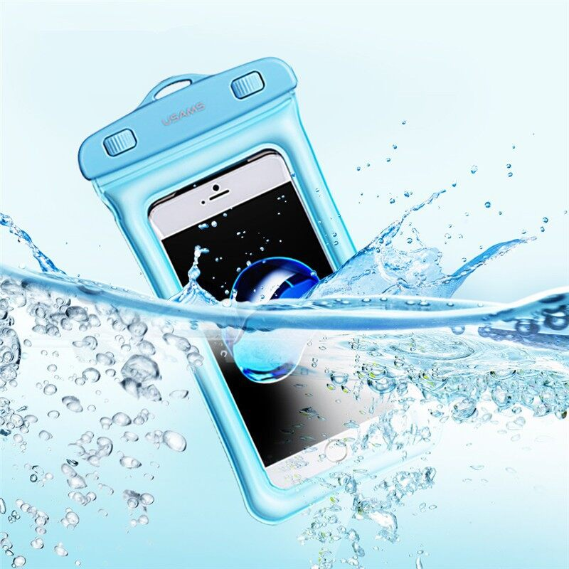 Cases & Covers - YD007 IPX8 Waterproof Touch Screen Gasbag Floating Phone Bag - BLUE / PINK / BLACK