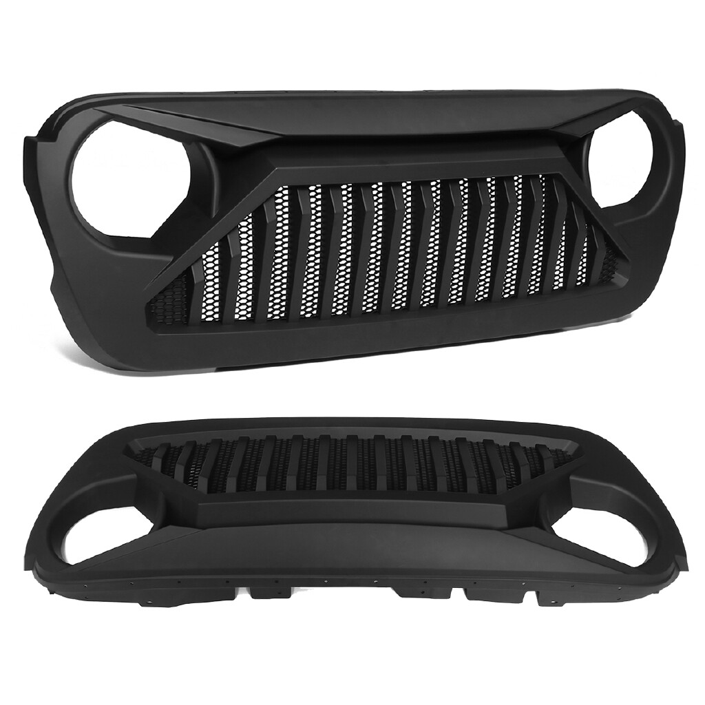 Car Accessories - Matte Black ABS Front Bumper Grille Upper Grill For JEEP Wrangler JL - Automotive