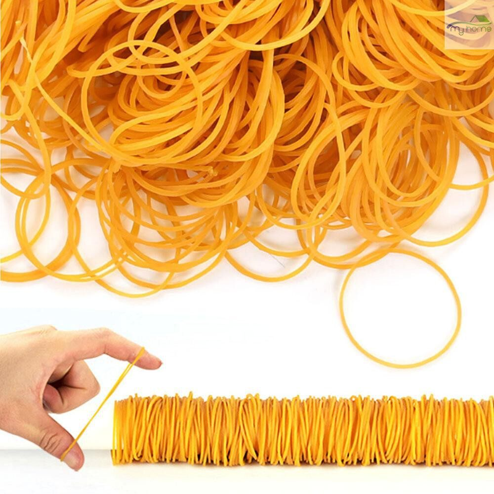 Lighting - 300 PIECE(s) Per Bag Yellow Rubber Bands Ring Loop Sturdy Stretchable Elastic Holder School Office - 5 / 3 / 2