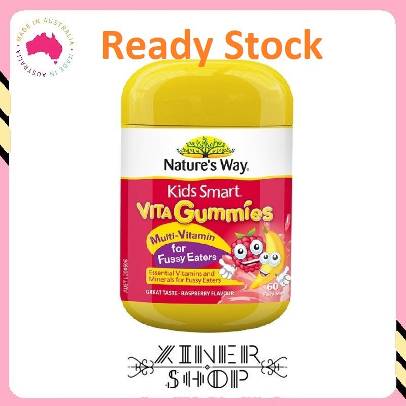 [Ready Stock EXP Date: 06/2021] Nature's Way Kids Smart Vita Gummies Multi Vitamin for Fussy Eaters ( 60 Pastilles )(Made In Australia)