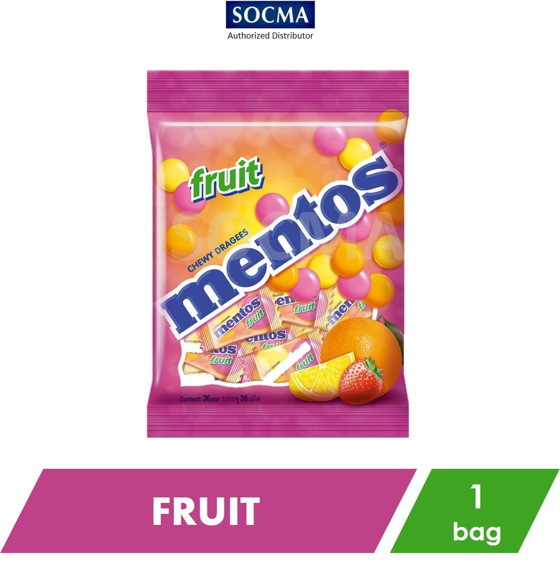 Mentos Pillow Pack Bag Fruit 36s [1]
