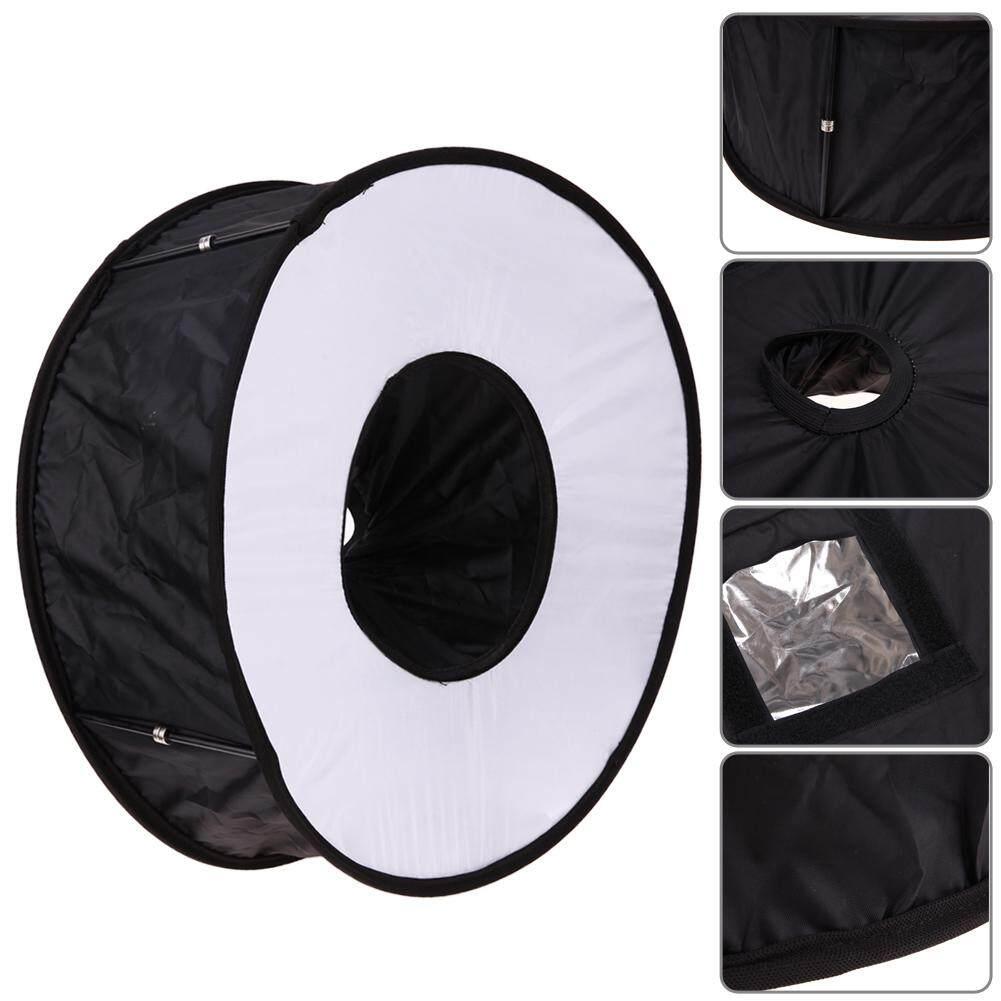 45cm Universal Foldable Ring Flash Softbox Macro Diffuser Reflector for Canon Nikon Sony Speedlight