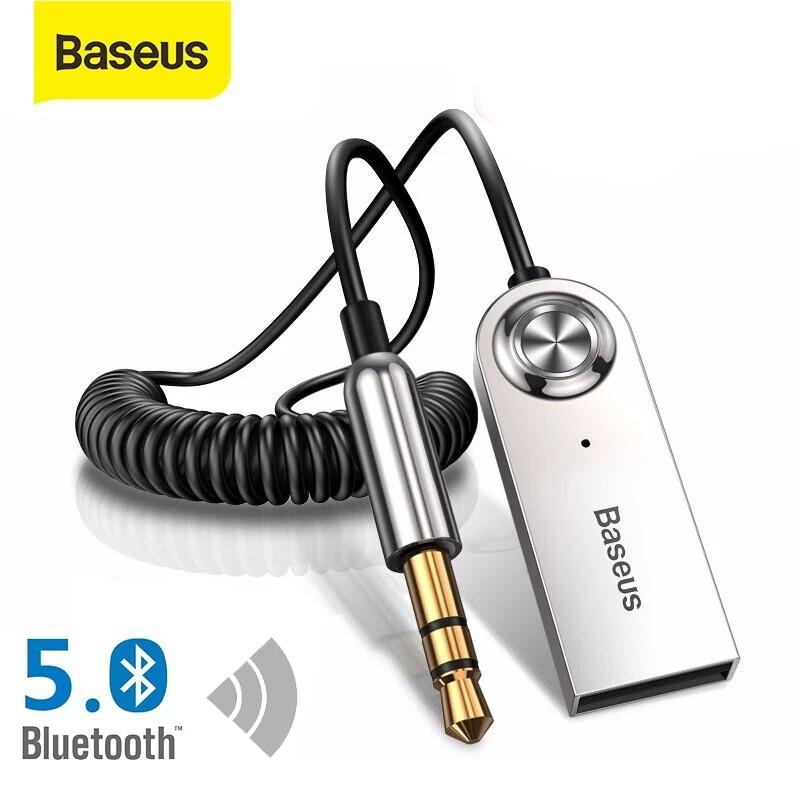 Baseus Máy Phát Bluetooth, Thu Không Dây, Giắc Cắm AUX 3.5Mm Cho Xe Hơi Bộ Chuyển Đổi USB Bluetooth 5.0 Âm Thanh Cáp Cho Tai Nghe Loa