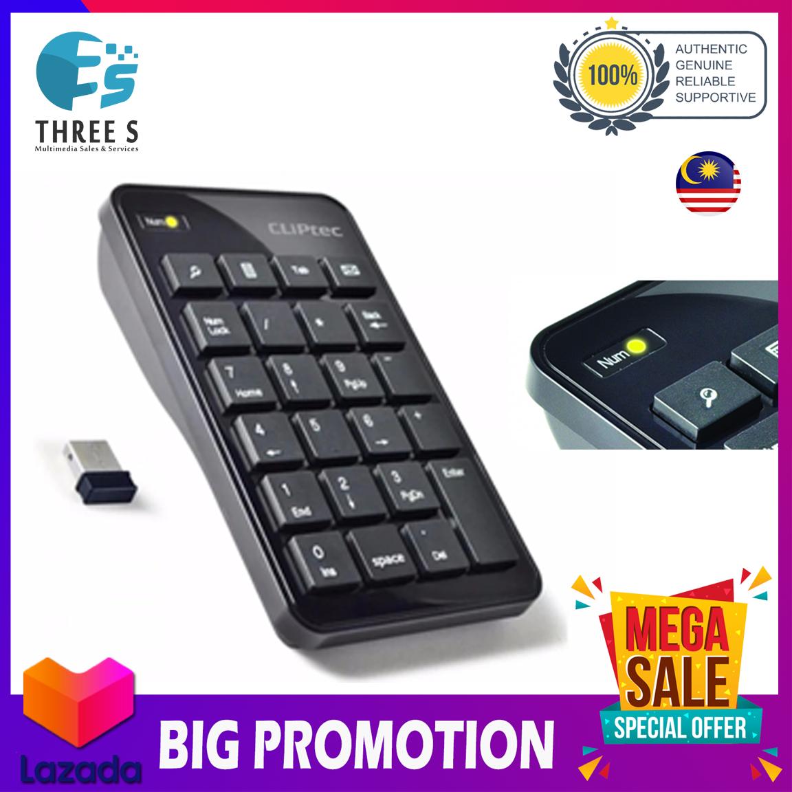Cliptec Wireless USB Numeric Keypad RZK222