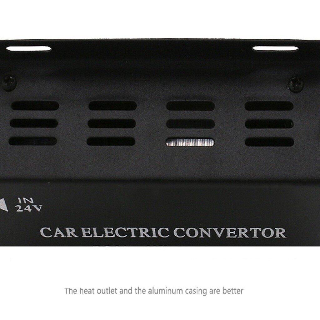 Car Accessories - 240W Car Electric Convertor DC 24V to 12V 20A Power Supply Inverter Transformer - Automotive