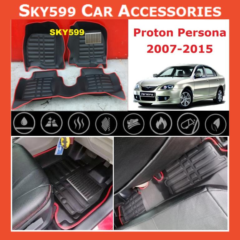 Proton Persona 2007-2015 5D Car Floor Mat/Carpet