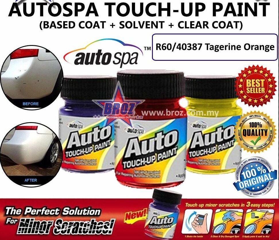 AUTOSPA Touch Up Paint Myvi 3pcs/Set (Base Coat + Solvent + Clear Coat)
