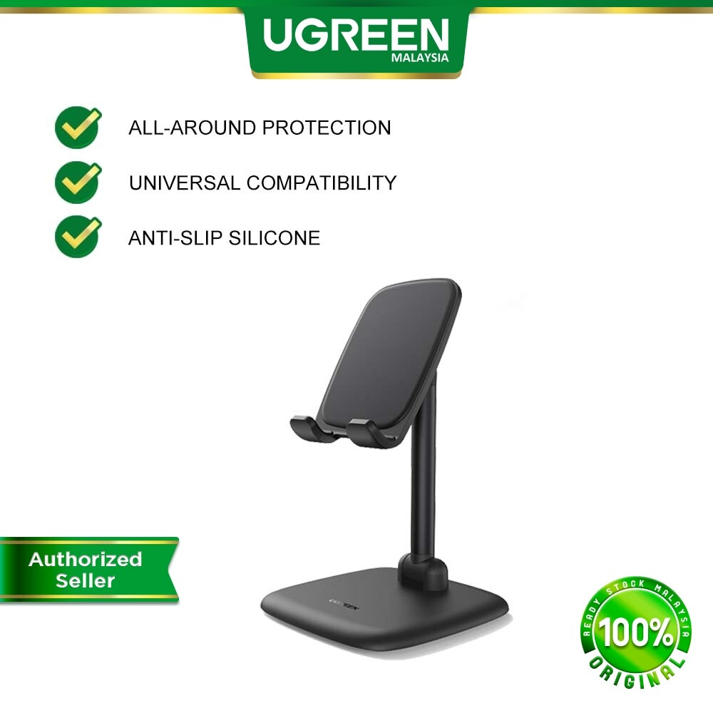 UGREEN Adjustable Non Slip Silicone Desk Phone Holder Tablet Stand Holder for i-Phone Android Samsung Huawei Oppo Vivo Xiaomi Honor Realme Samsung Tab Huawei Tab Blank