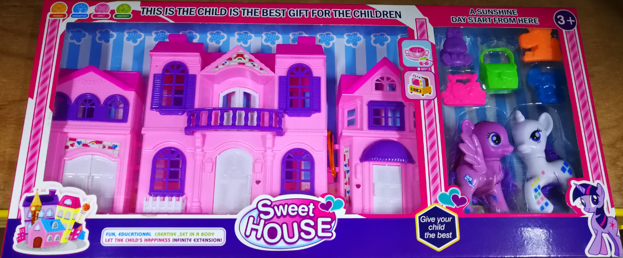 Legend Toys Station My Cute Little Pony My Little Horse Sweet House Toys Set for girls