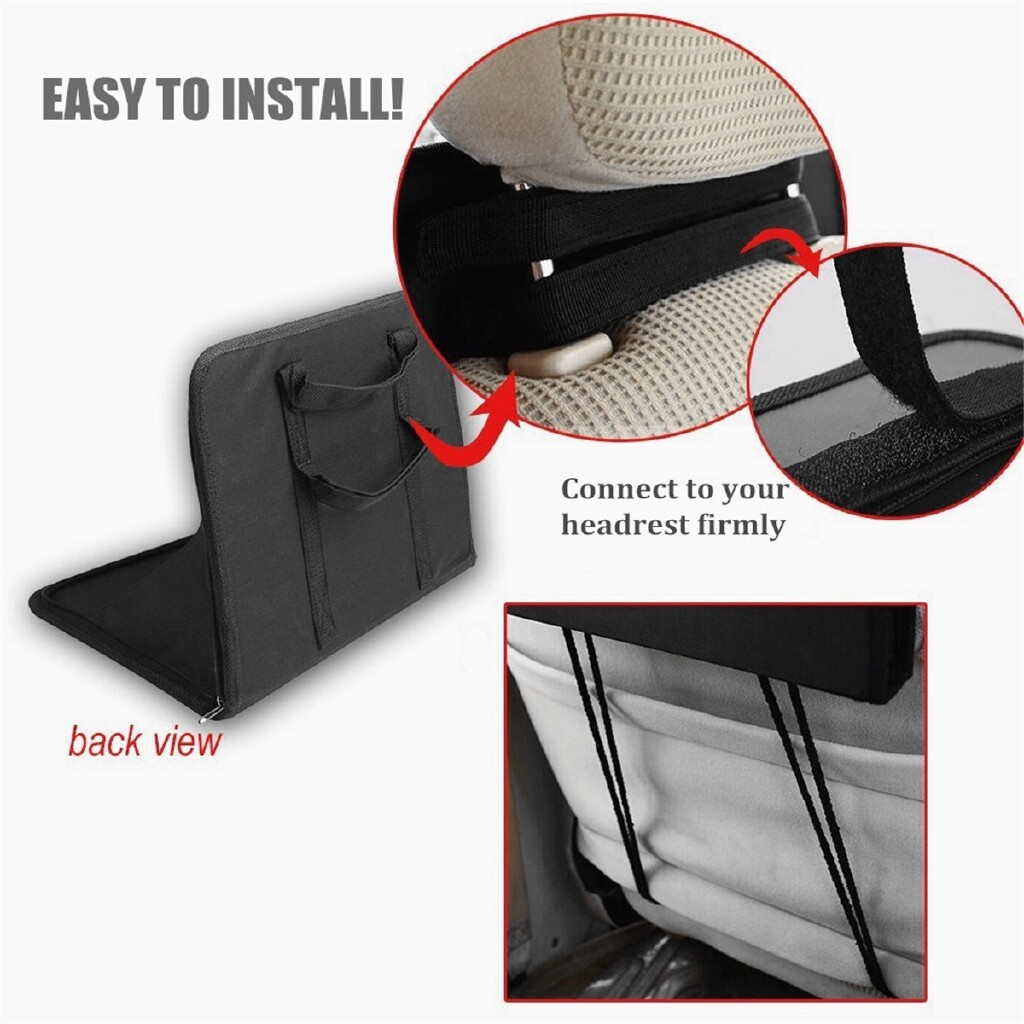 Steering, Seats & Gear Knobs - Folding Car Laptop Holder Seat Back Mounts Table Stands Work Organizer Travel - Car Replacement Parts