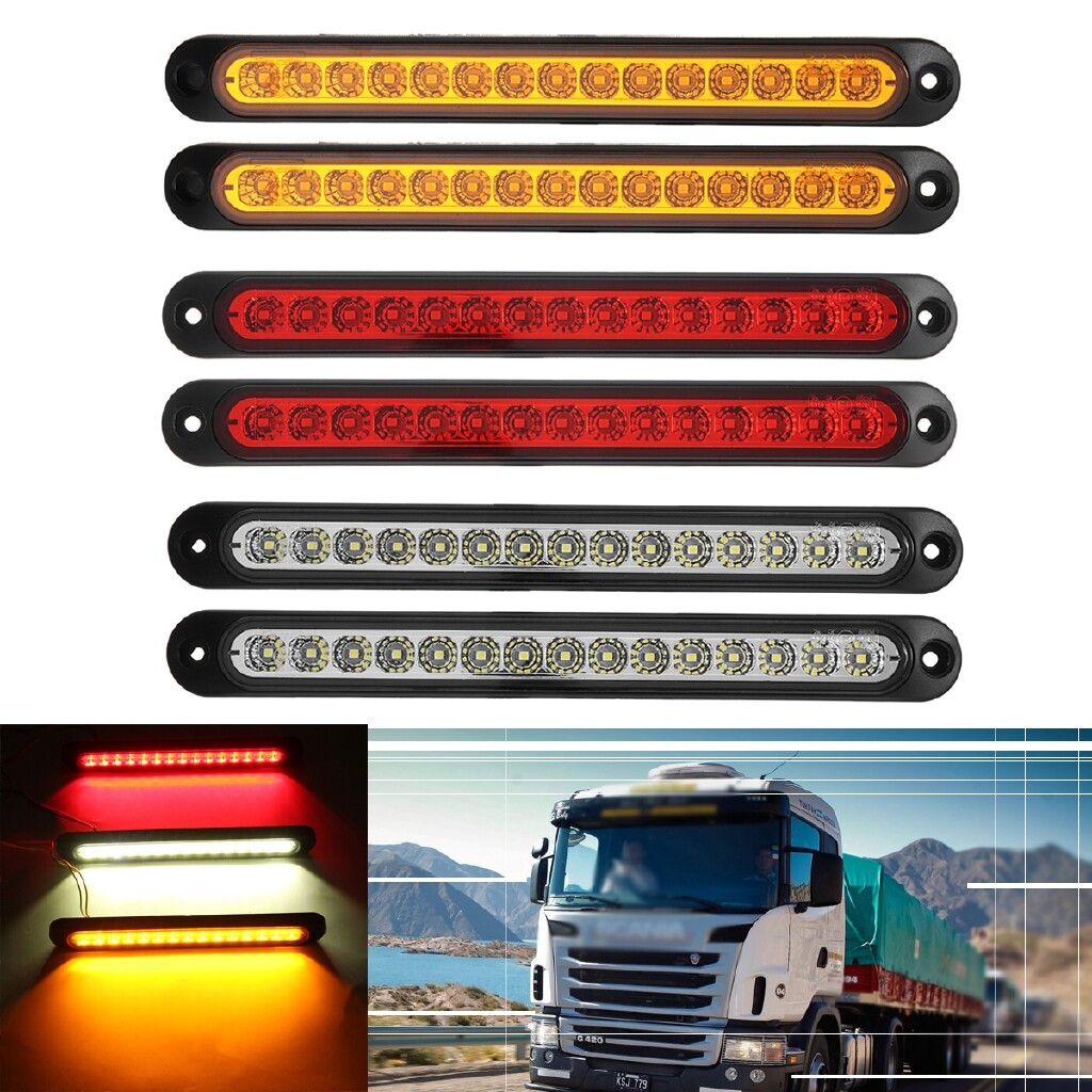Car Lights - 6 PIECE(s) 15LED Trailer Truck Caravan Tray Back Ute Tail Reverse Turn Signal Light - Replacement Parts