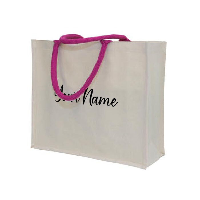 MyUnique Canvas Bag with Name CB06 (Magenta)