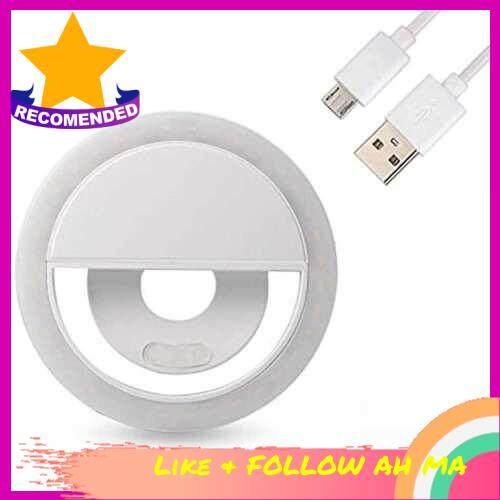 Best Selling LED Selfie Ring Light Lighting Selfie Enhancing Fill Light Photography Photo Lights Supplementary For Phones USB Charge (White)