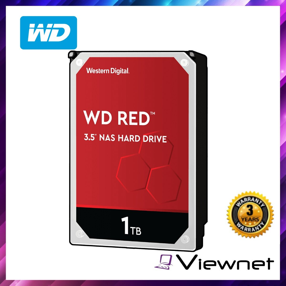 WD Western Digital Red 1TB / 2TB / 3TB / 4TB / 6TB / 8TB / 10TB / 12TB NAS SATA Internal Hard Drive 5400rpm 64MB / 256MB