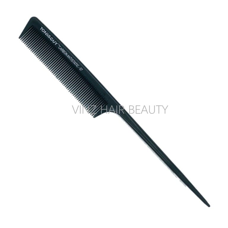 TONI&GUY Carbon Antistatic Hairdressing Pin Tail Comb - 07