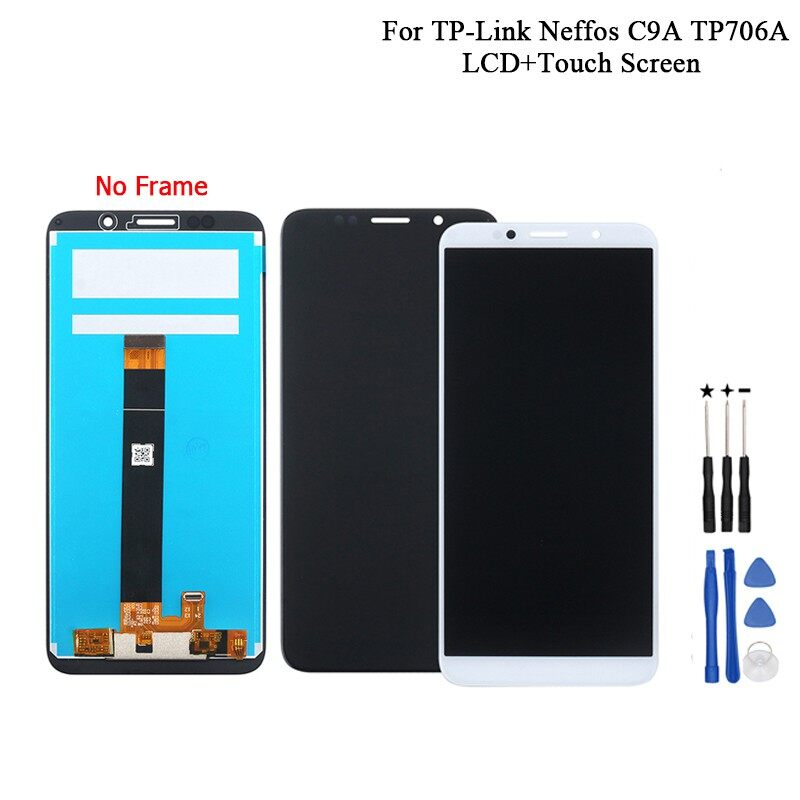 For TP-Link Neffos C9A TP706A LCD Display And Touch Screen Assembly 5.45\'\' For TP-Link Neffos C9A - BLACK / WHITE