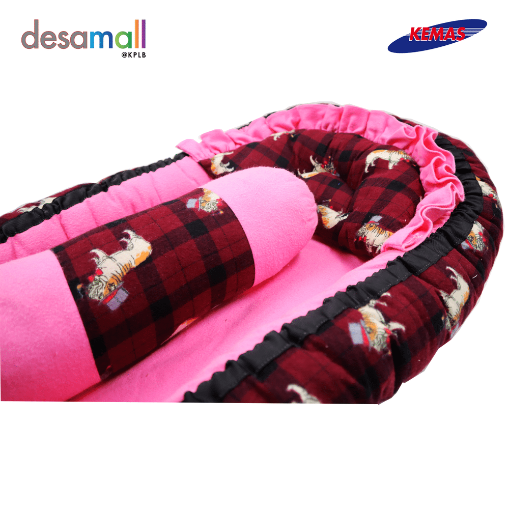 D'HAS COLLECTION Baby Nest Selesa - Maroon Pink