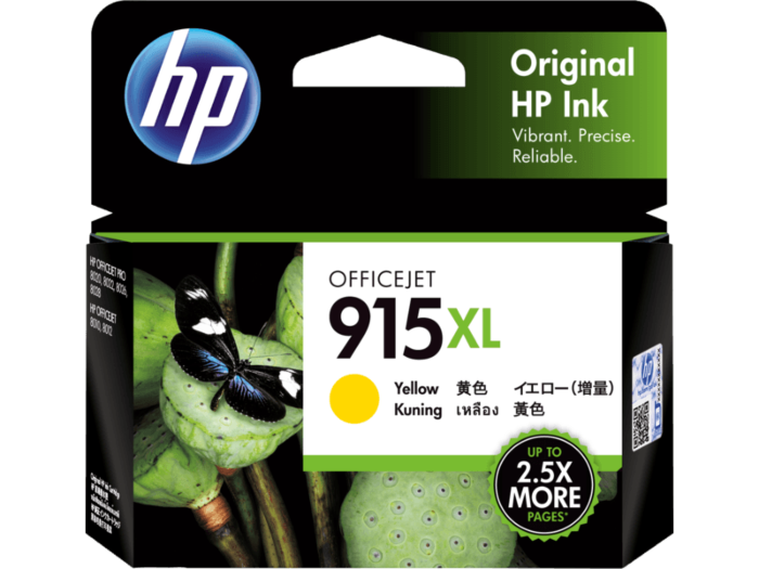HP 915XL Original Ink Cartridge (3YM22AA/915XL) Black / Yellow / Magenta / Cyan