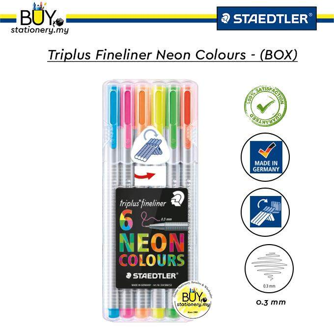 Staedtler Triplus Fineliner Neon Colours- (BOX)