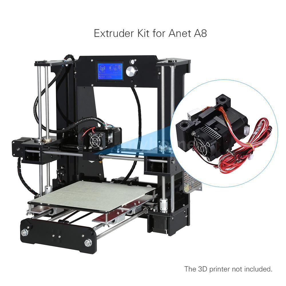 Printers & Projectors - 3D Printer Extruder Feeder Feeding Kit Nozzle Motor for 1.75mm Filament Diameter Anet A6 i3 - #