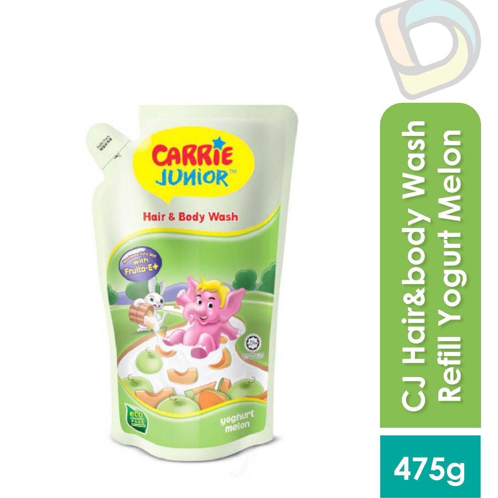 Carrie Junior Refill Pack Hair & Body Wash Pouch 500g