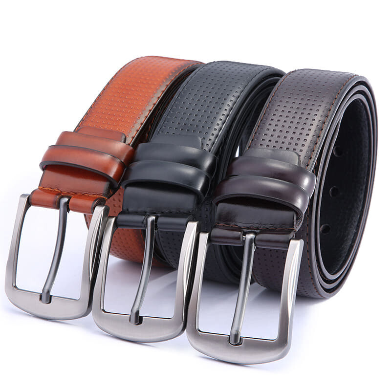 (NEW) [M'sia Warehouse Direct] 2020 Korean Series Men's Leather Pin Buckle Belt Perfect Gift For Love One (Come With Box) Luxury Classy English Style Leather Belt Suitable Formal Wear Jeans Casual Wear Belt Long Lasting Tali Pinggang Kulit Lelaki Halal
