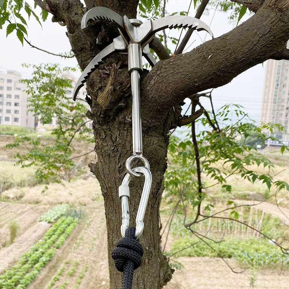 Best Selling Grappling Hook Folding Foldable Survival Claw Stainless Steel Hook Outdoor Camping Exploring Climbing Sawtooth Anchor (Standard)