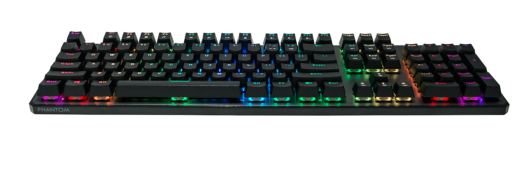 Tecware Wired Gaming Mechanical Keyboard Phantom 2020 with RGB Lighting, 104 Fullkey, Outemu Mechanical Switch (Outemu Blue / Outemu Brown / Outemu Red)