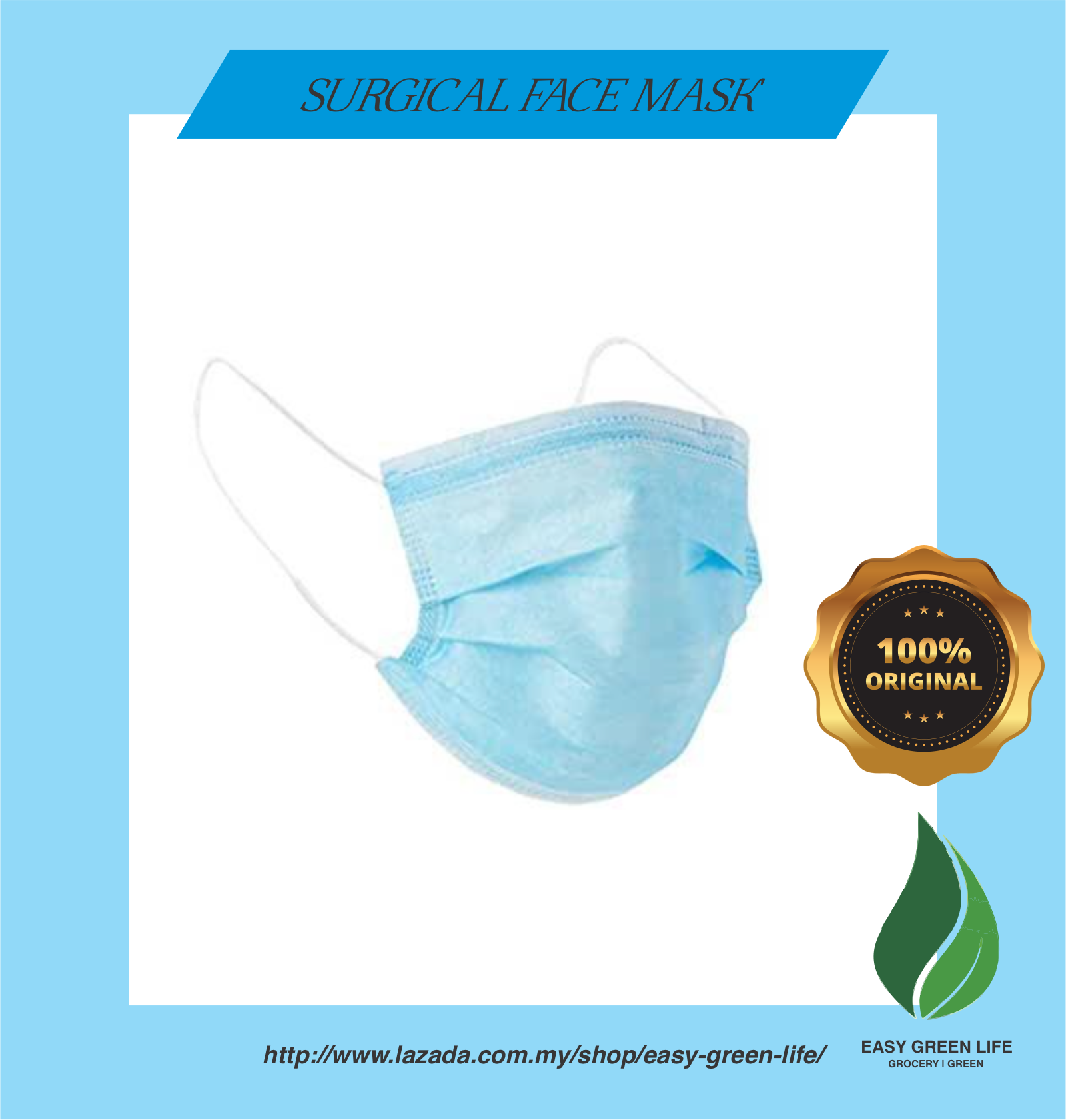 EGL Ready Stock- 3 Ply Disposable Face Mask (FAST DELIVERY)/Stock Sedia Mask Muka 3 lapis