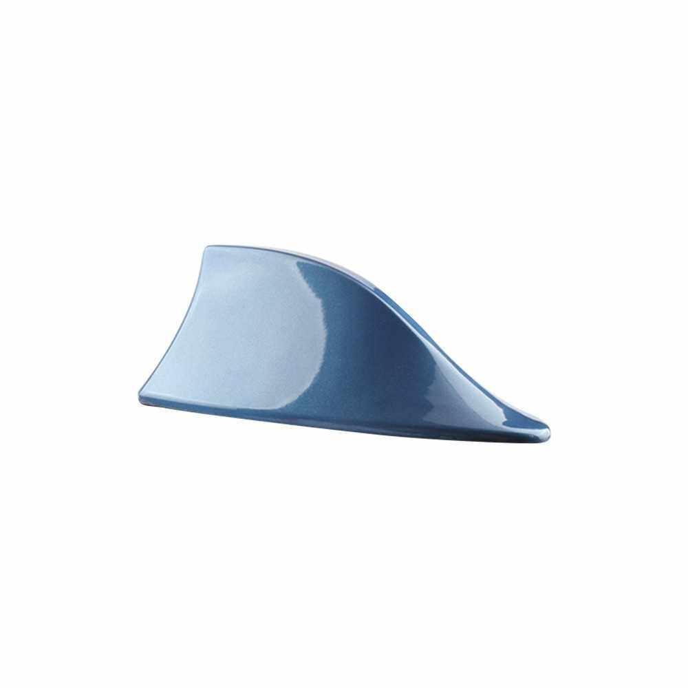 Car Shark Antenna Auto Roof Shark Fin Universal Antenna FM/AM Signal (Blue)