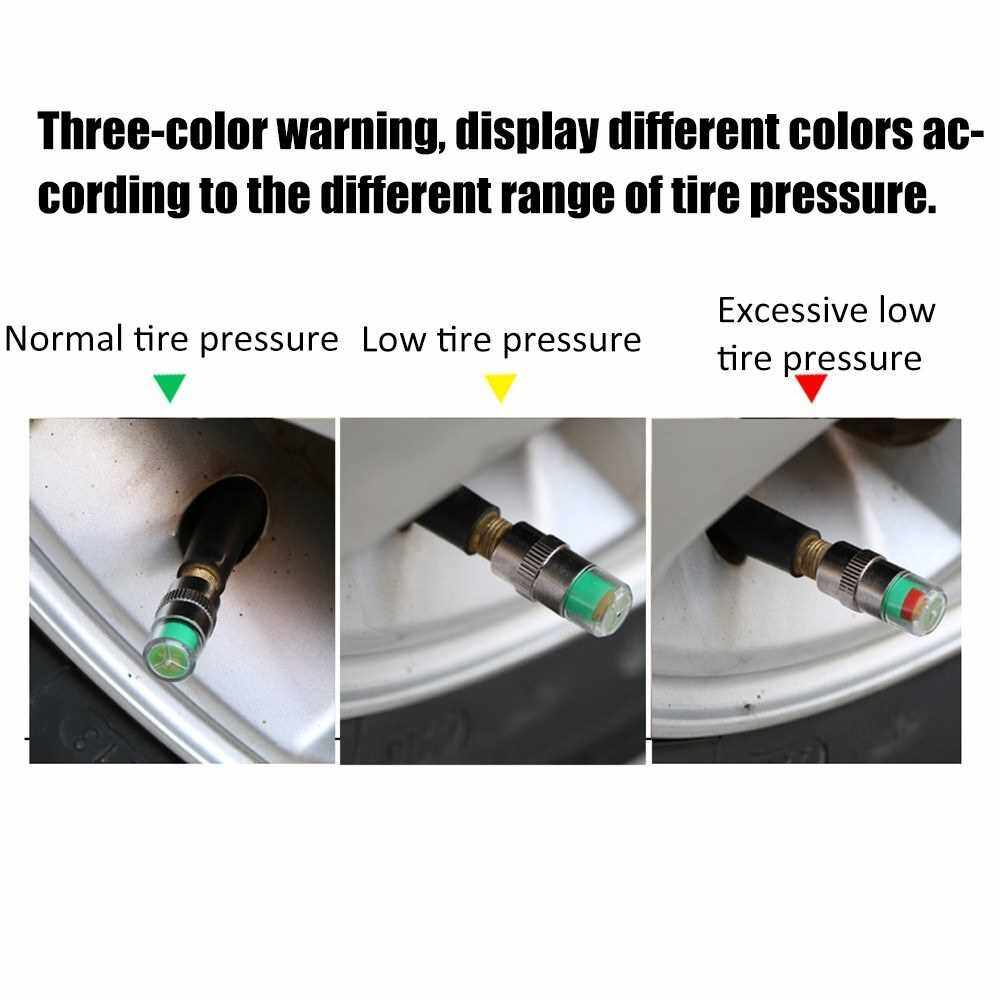 Automatically Elaborate Simple 4PCS Tire Pressure Detecting Cap Monitoring Visual Warning Device Auxiliary Tool (1)