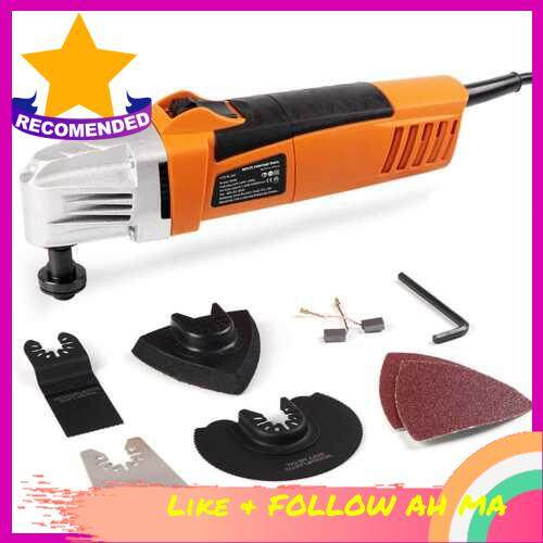 Best Selling 110V Oscillating Multi Saw Various Speed Multifunctional Electric Trimmer Woodworking Finishing Machine Swing Shovel Multi Purpose Tool with Sanding Sheet Saw Blade (Us)