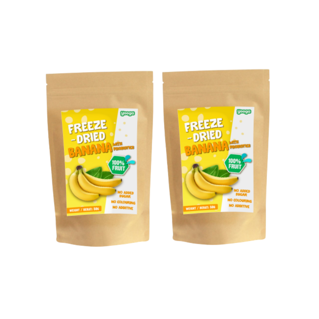 Yooga Freeze Dried Fruits - Banana with Probiotic  (2 packets)