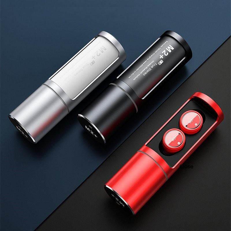 M2+ Wireless Bluetooth 5.0 Headset TWS Stereo Sport Earphone mini Stealth Microphone Earplug For Smartphone High Quality WHITE