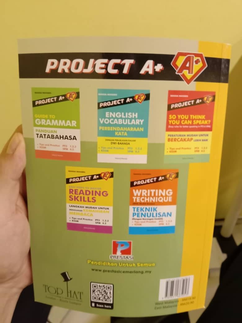 Best Selling Project A+: Model English Essays For PT3 PMR & SPM Enhance Writing Skills NEW 2020 Edition (Ready Stock)