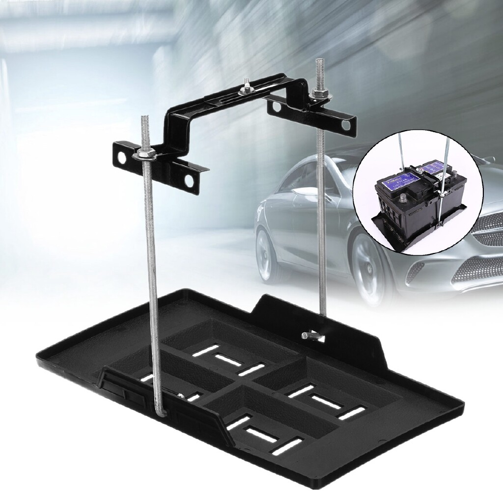 Power Tools - Car Adjustable Hold Down Clamp Bracket Kit Screw Rod 27cm + Battery Tray Holder - Home Improvement