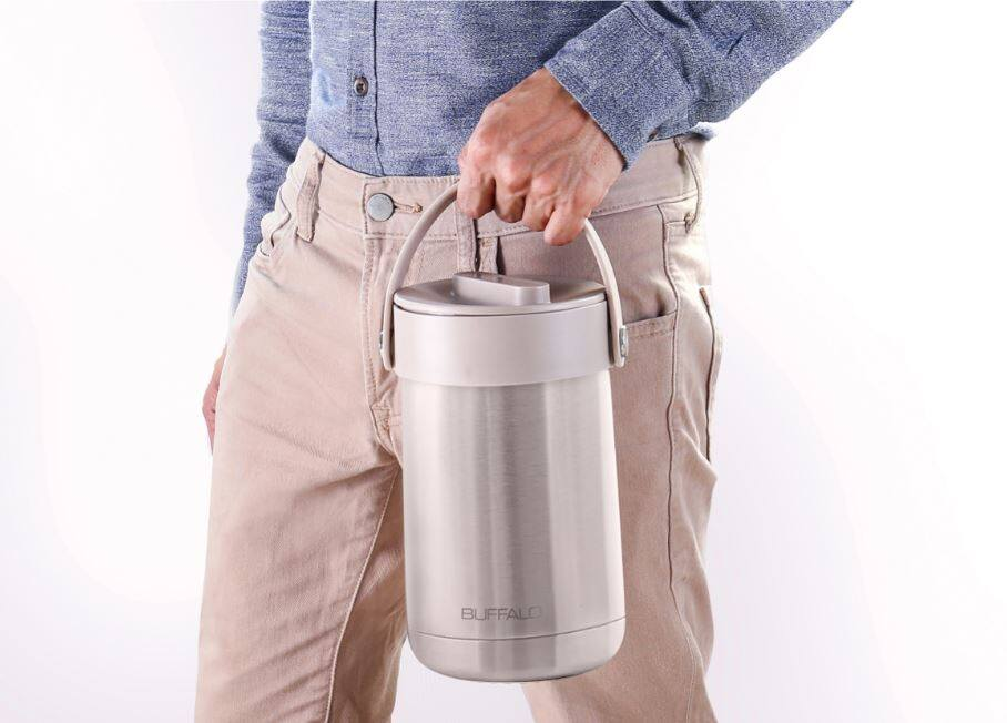 BUFFALO ELECTRIC HEATING LUNCH BOX (GREEN)+ STAINLESS STEEL LUNCH BOX