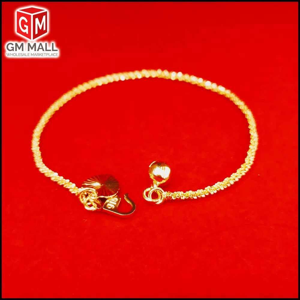 Emas Korea Jewellery - Rantai Tangan Bulu S Gold Plated (EK-2025-6)