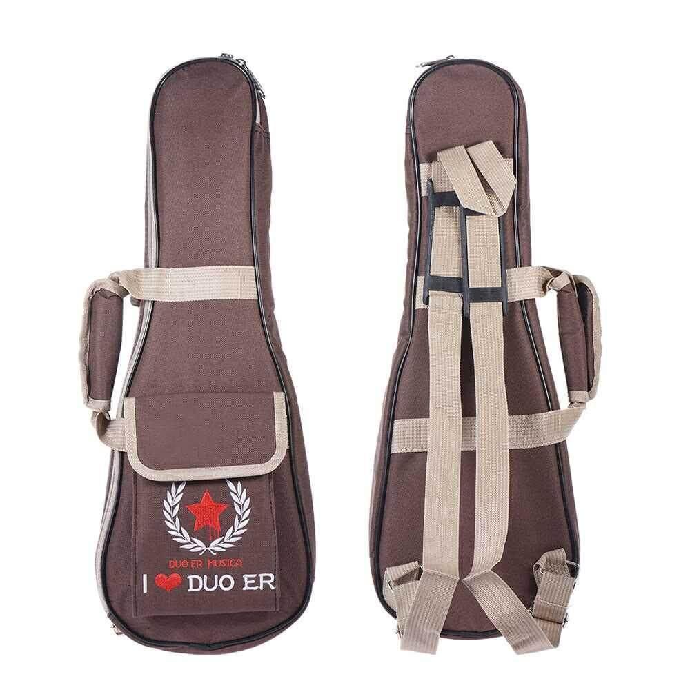 """21"""" Ukelele Bag Case Backpack Adjustable Shoulder Strap Portable 6mm Thicken Padded"""