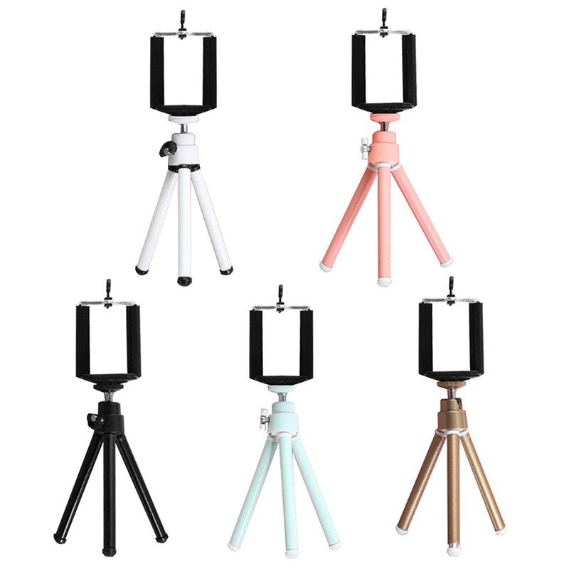 MINI Flexible Retractable Phone Holder Stand Tripod Colorful Desktop Photo Small - WHITE / BLACK / PINK / GOLD / SILVER / MINT GREEN / ONLY 1 Piece SELFIE CLIP