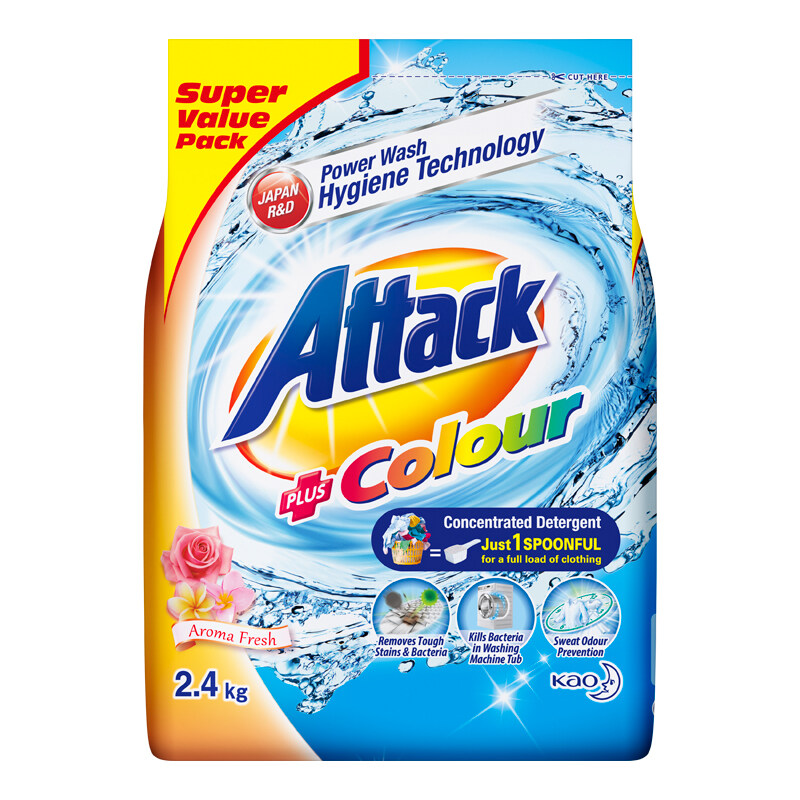 Attack Colour Concentrate Detergent Powder (ATC) (240g/ 800g/ 1600g/ 2400g)