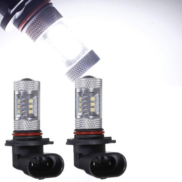 Car Lights - 6000K 15-SMD LED 9005 9040 9045 Car Fog Light Bulbs - Replacement Parts
