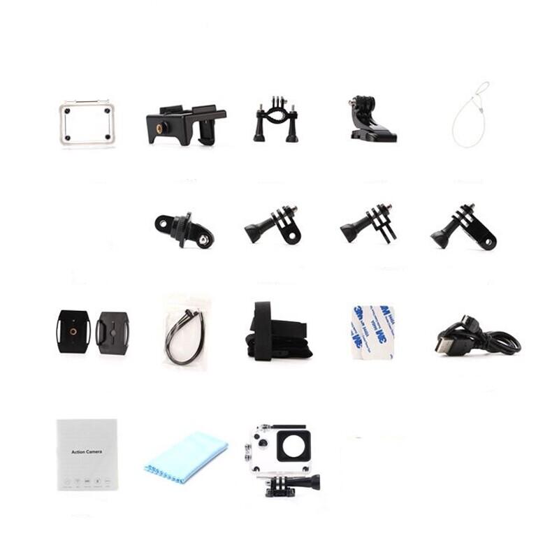 Camera Accessories - XANES M1 4K WiFi Sport Camera HD Waterproof Remote Control DV Video Vlog Camera - WHITE / BLACK