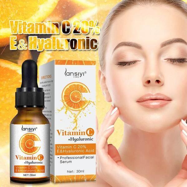 Natural Organic Vitamin C Serum 20% Vitamin E Hyaluronic Acid Moisturizing Anti Aging Facial Skin Care 30ml