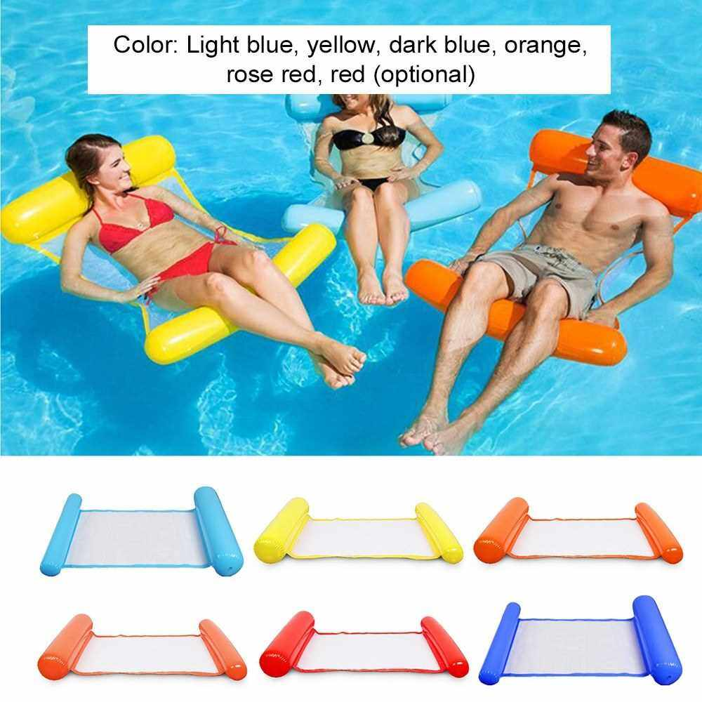 Best Selling Swimming Chair Swimming Pool Seat Inflatable Lazy Bed Lounge Chair (Rose)