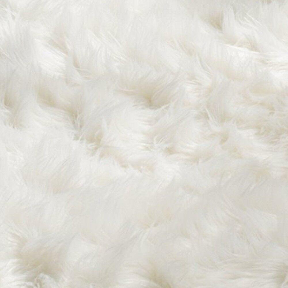 Rugs & Carpets - Soft Shaggy White Plush Rectangle Decorative Rug Carpet Imitation Fur European L - 5 / 4 / 3 / 2 / 1