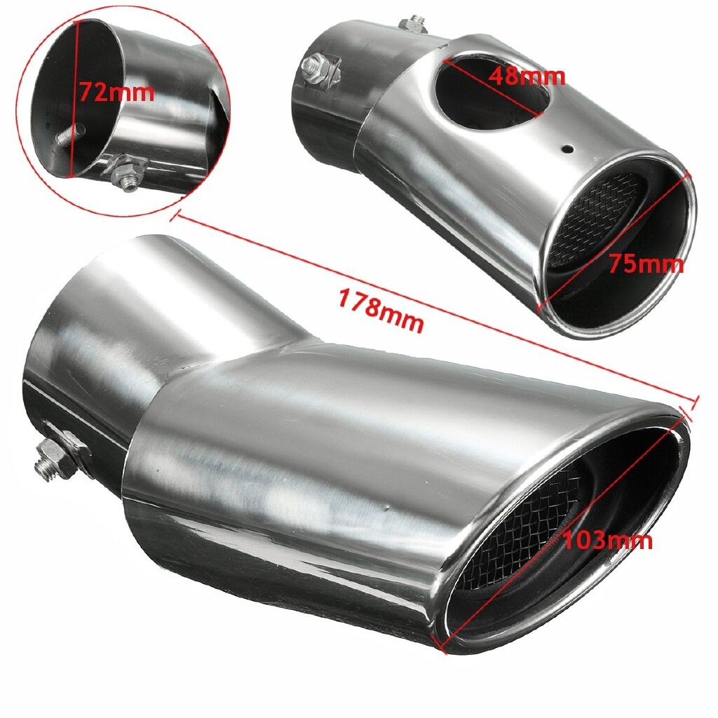Car Lights - Stainless Rear Exhaust Muffler End Trim Tip Tail Pipe For Honda CRV 2012 - 2016 - Replacement Parts