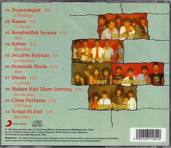 Juara-Juara Rock 1 D'Febians May Scandals Burnmark's Metallian CD